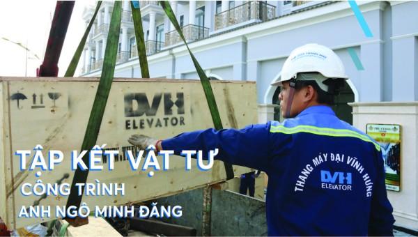 Tập kết vật tư công trình thang máy gia đình – Anh Đăng – Rạch Giá, Kiên Giang