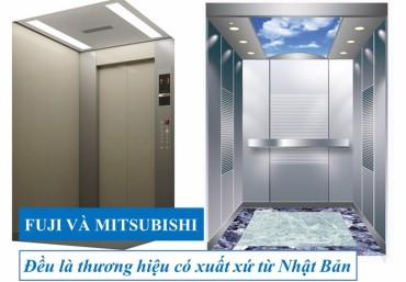 Cập nhật giá thang máy mitsubishi 550kg và thang máy fuji 550kg