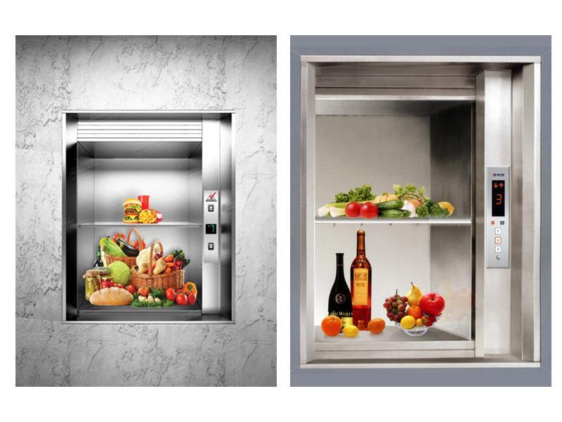 Thang nâng thức ăn sự khác nhau giữa thang nâng thức ăn và thang máy tải khách