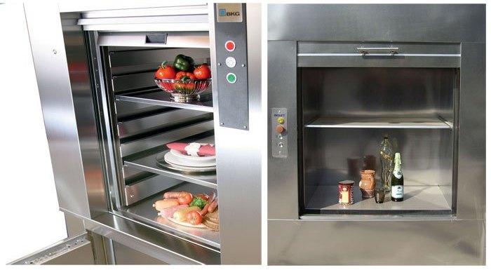 thiết kế của Thang máy thực phẩm DVH