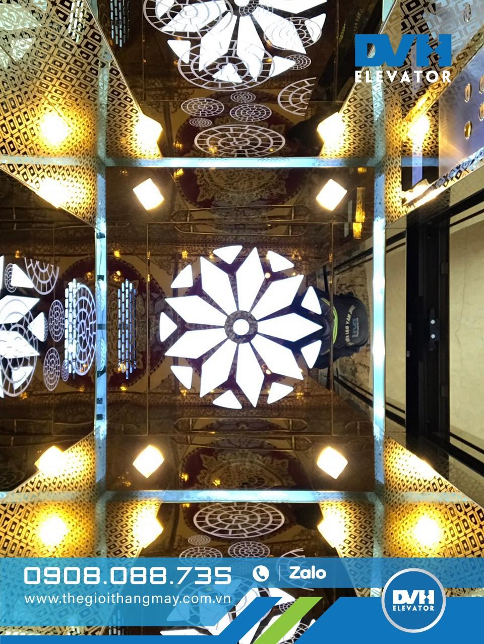 Công trình thực tế thang máy gia đình 350kg do Thế Giới Thang Máy thực hiện